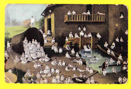 * Fantasie - Fantaisie - Fantasy * (série 384/1) Bébés Multiples, Babies, Enfant, Cygne, Egg, Oeur, Paques, Easter - Bébés
