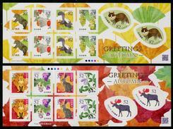 Japan 2016 Autumn Greetings Self-Adhesive Sheetlets Of 10 JP101 MNH** - 1989-... Emperador Akihito (Era Heisei)