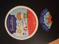 """Etiquette  Boite De Fromage """"FONDELICE"""" . - Cheese"""