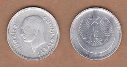 AC - TURKEY 1 LIRA 1939 SILVER RARE VF+ - Turkey