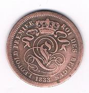 2 CENTIMES 1833 BELGIE /317C/ - 1831-1865: Léopold I