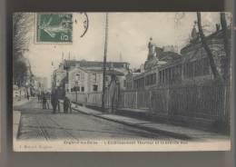 ENGHEIN LES BAINS (95 - Val D'Oise) - 1908 - La Grande Rue Et L'Etablissement Thermal - Animée - Enghien Les Bains