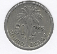 CONGO - ALBERT II * 50 Centiem 1929 Frans * Z.Fraai * Nr 3027 - Congo (Belge) & Ruanda-Urundi