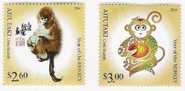Aitutaki - Postfris / MNH - Complete Set Jaar Van De Aap 2016 - Aitutaki