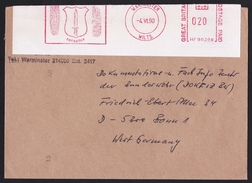 UK: Cover To Germany, 1990, Meter Cancel, Infantry School, By German Liaison Officer, Army, Military (traces Of Use) - 1952-.... (Elizabeth II)