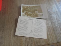 La Chanson Du 44°  +1 Carte Photo Militaires Couchés Dans La Neige à BRUYERES  D - Régiments