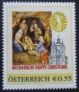 8002819 - PM - €-Zeichen - WEIHNACHTEN - MECHANISCHE KRIPPE CHRISTKINDL ** - Österreich