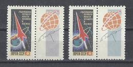 RUSSIE . YT 2506/2507 Neuf ** Anniversaire Du Vol Cosmique De Gagarine 1962 - Neufs
