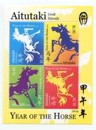 Aitutaki - Postfris / MNH - Sheet Jaar Van Het Paard 2014 - Aitutaki