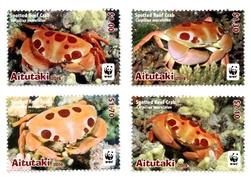 Aitutaki - Postfris / MNH - Complete Set WWF, Krab 2014 - Aitutaki