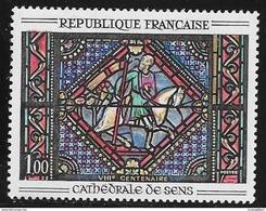 N° 1427   FRANCE  -  NEUF  - TABLEAU VITRAIL CATHEDRALE DE SENS ST PAUL   -  1964 - Frankreich