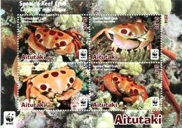 Aitutaki - Postfris / MNH - Sheet WWF, Krab 2014 - Aitutaki