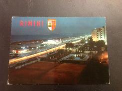 73 - RIMINI Di Notte - Lungomarec E Spiaggia - 1976 - Rimini