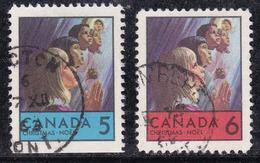 Canada 1969 N° Y&T : 417 Et 418 Obl. - 1952-.... Règne D'Elizabeth II