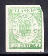 ESPAÑA .REGIMEN DE FRANCO. POLIZA CLASE 11ª. 40 CENTIMOS .NUEVA SIN GOMA . SES395GRANDE - Fiscales