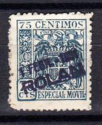 ESPAÑA  .REGIMEN DE FRANCO.TIMBRE ESPECIAL MOVIL 75 CENTIMOS   USADO.SES395GRANDE - Fiscales