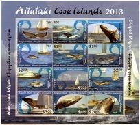 Aitutaki - Postfris / MNH - Sheet Walvissen En Dolfijnen 2013 - Aitutaki