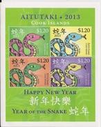 Aitutaki - Postfris / MNH - Sheet Jaar Van De Slang 2013 - Aitutaki