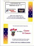 P] Carte Commerciale Publicitaire Commercial Card Lion's Club Lion - Rotary Club