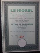 1 Le NICKEL Action 50 FR + Coupons SPECIMEN N 00000 - Azioni & Titoli