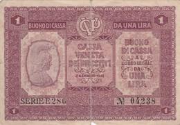Billet D'una Lira - Buoni Di Cassa