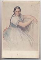 Art - Tableau - Belle Femme Brune - Signature En Haut à Droite - Peintures & Tableaux
