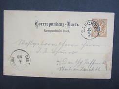 GANZSACHE Zauchtel Suchdol - Deutsch Jassnik 1888 ////  D*23454 - 1850-1918 Imperium