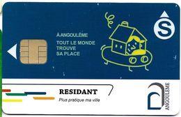 CARTE A PUCE STATIONNEMENT RESIDANT  ANGOULEME - Francia