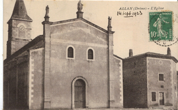 """Carte Postale ALLAN """" L'église """" - Autres Communes"""