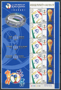(feuillet 1) Japon ** N° 3220/3221 (en Petite Feuille De 5 Séries) - Coupe Du Monde De Foot En Corée Du Sud Et Au Japon - Blocs-feuillets