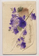 AI41 Embossed Birthday Greeting - Compleanni