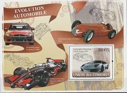 CARS - COMORES 2008 -  Evolution Automobile : Mitsubishi Lancer, Alfa Roméo Tipo, Mc Laren Mercedes, Lamborghini - Automobile