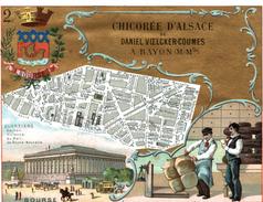 CHROMO GRAND FORMAT CHICOREE DANIEL VOELCKERS COUMES A BAYON PARIS ARRONDISSEMENT 2 LA BOURSE - Other