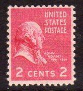 USA 1938-51 Presidential Series 2c John Adams, Hinged Mint (SG 802)