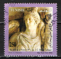 TUNISIA - 2005 - LA VITTORIA - ANTICA SCULTURA - PERIODO ROMANO - USATO - Tunisia (1956-...)