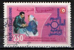 TUNISIA - 1997 - GIORNATA INTERNAZIONALE PER LA PROTEZIONE DELL'ANZIANO - USATO - Tunisia (1956-...)