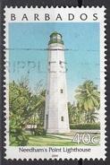 984 Barbados 2000 Needham's Point Llghlhouse Faro Viaggiato Used - Lighthouses