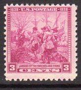 USA 1938 3c Scandinavian Settlement, Lightly Hinged Mint, (SG 846)