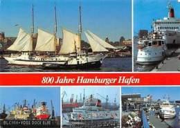 800 Jahre Hamburger Hafen, Schiff Blohm Voss Dock Elbe Harbour Ship Bateaux - Germany