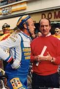 Cyclisme ( Photo De Presse ) Paris Bruxelles 1990 Laurent Fignon Et Jf Pescheux - Cyclisme