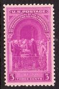 USA 1939 3c 150th Anniversary Of Washington's Election, Lightly Hinged Mint (SG 851)