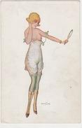 Vor Dem Spiegel - Erotisches Sujet - Signiert     (A30-140721) - Künstlerkarten