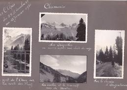 GX Page Recto-verso Album Hivers1949-1950 -voyage Dans Les Alpes Chamonix Arve Praz Montroc Argentieres Bossons  Le Tour - Lieux