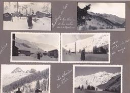 GX Page Recto-verso Album Hivers1949-1950 -voyage Dans Les Alpes Village Du Tour Montroc Glacier Col Voza Bionnassay