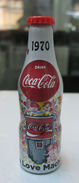 AC - COCA COLA 100th YEARS OF COLA  ALUMINUM MINI BOTTLE KEYRING - KEY HOLDER 1970 BRAND NEW FROM TURKEY - Key Chains