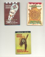 Lot De 3 Mini-livres Sur Les Coutumes, Accessoires Vestimentaires Des INDIENS D' Amérique - Peaux-Rouges, Western (rl) - Books, Magazines, Comics