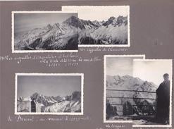 GX Page Recto-verso Album Hivers1949-1950 -voyage Dans Les Alpes Chamonix Argeniteres Brevent Bossons Voza Servoz