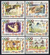Dubai 1972 MNH 6v, Sports, Olympics, Horses, Fencing, Hockey - Summer 1972: Munich