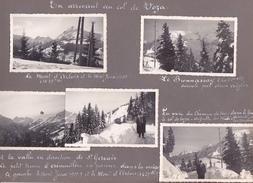 GX Page Recto-verso Album Hivers1949-1950 -voyage Dans Les Alpes Col Voza Saint Gervais Bionnassat Arbois Megeve - Lieux