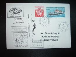 LETTRE TP MARION DUFRESNE 0,46E + 0,05E OBL.23-3-2004 ALFRED FAURE CROZET + CMA CGM + Commandant JP HEDRICH - Terres Australes Et Antarctiques Françaises (TAAF)